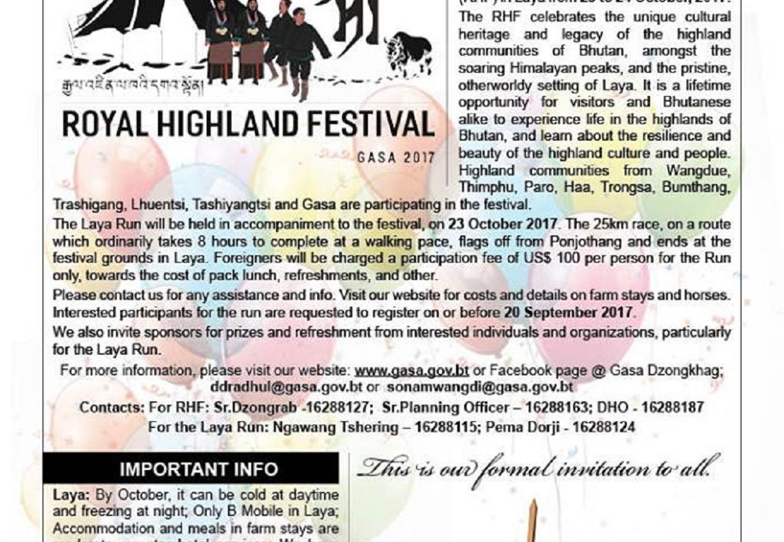 2nd Royal Highland Festival in Laya