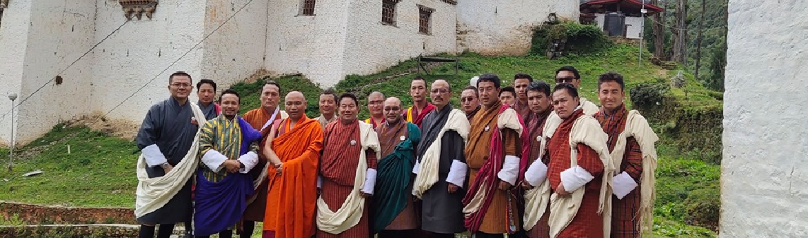 Handing taking of Gasa Tashi Thongmoen dzong